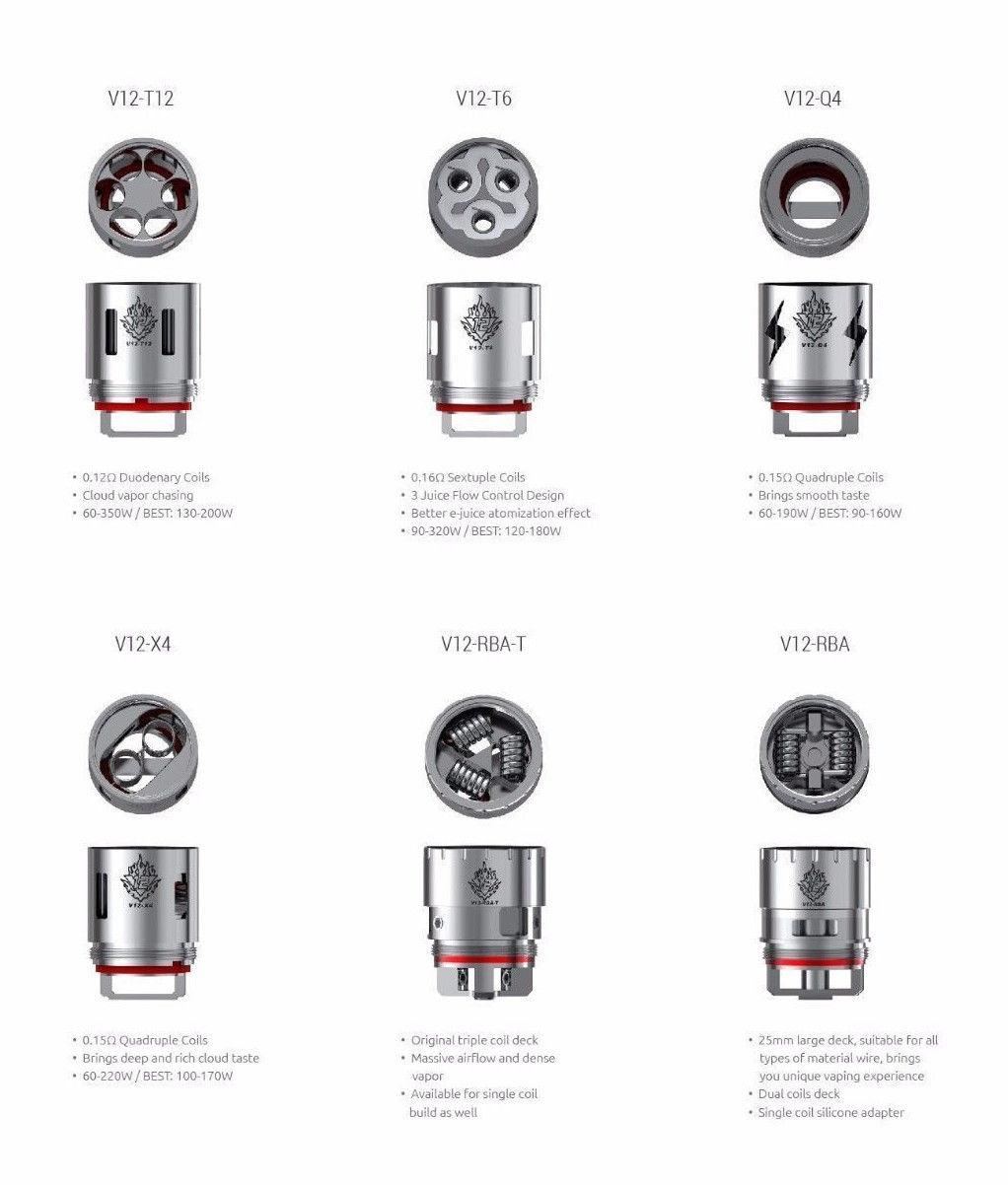 u00a30 99 gbp - authentic smok tfv12 coils