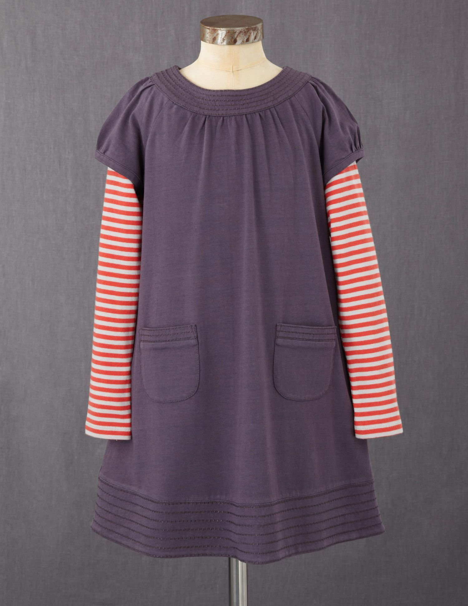 Love these simple dresses from Mini Boden, the layered sleeve is ...