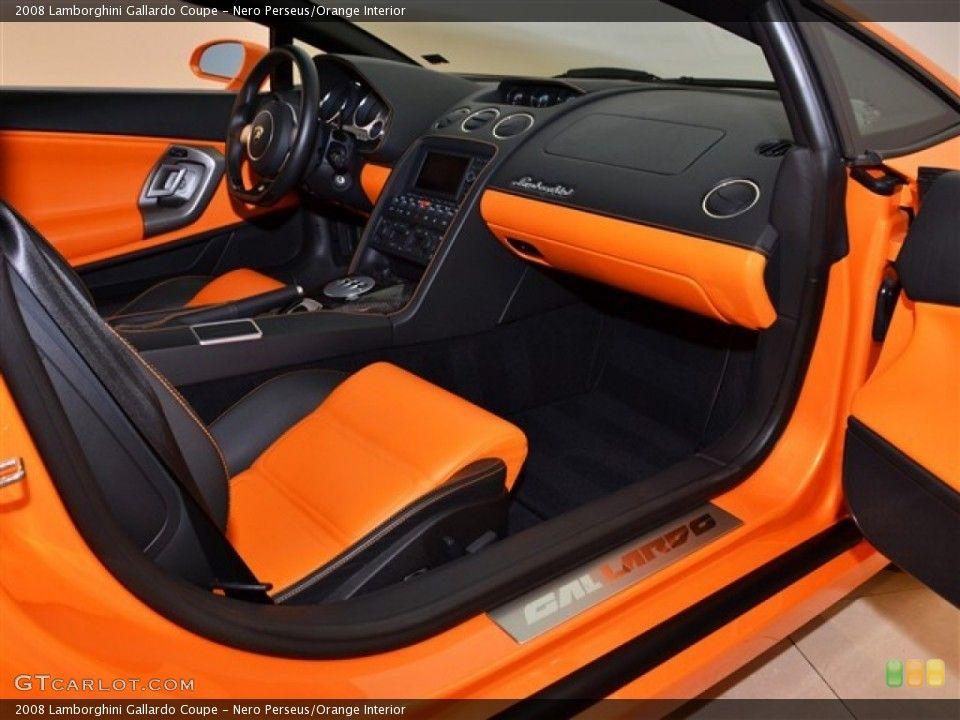 Lamborghini Interior Orange With Black Stitching Seats Door Panels