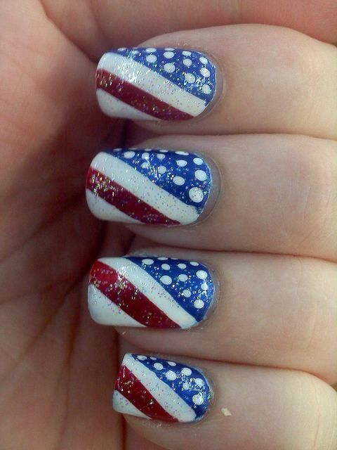 Forth Of July Nails by Ashleyness from Nail Art Gallery | nail art 2 ...
