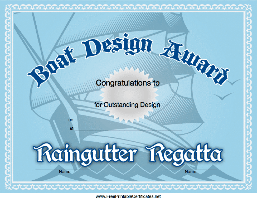 A Tall Ship Forms The Background Of This Raingutter Regatta Design