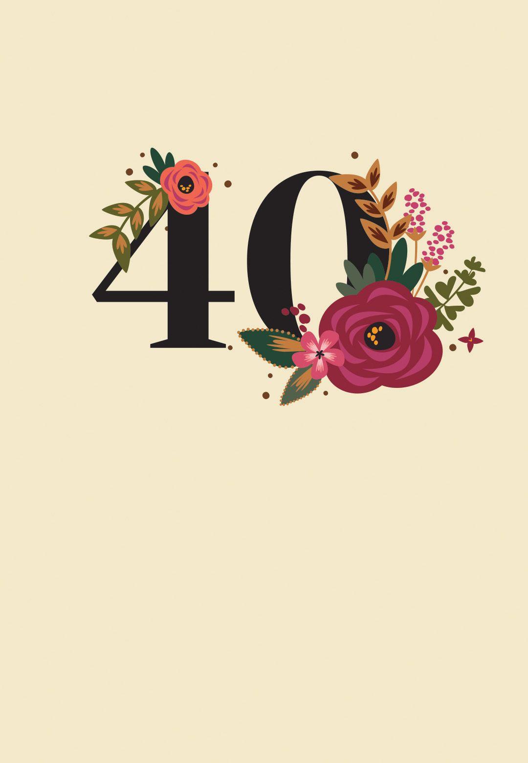 Botanical Milestone 40 Birthday Invitation Template Free W 2020
