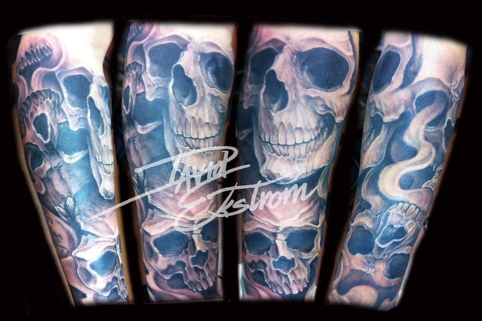Half sleeve tattoos ideas drawings of grim reapers half