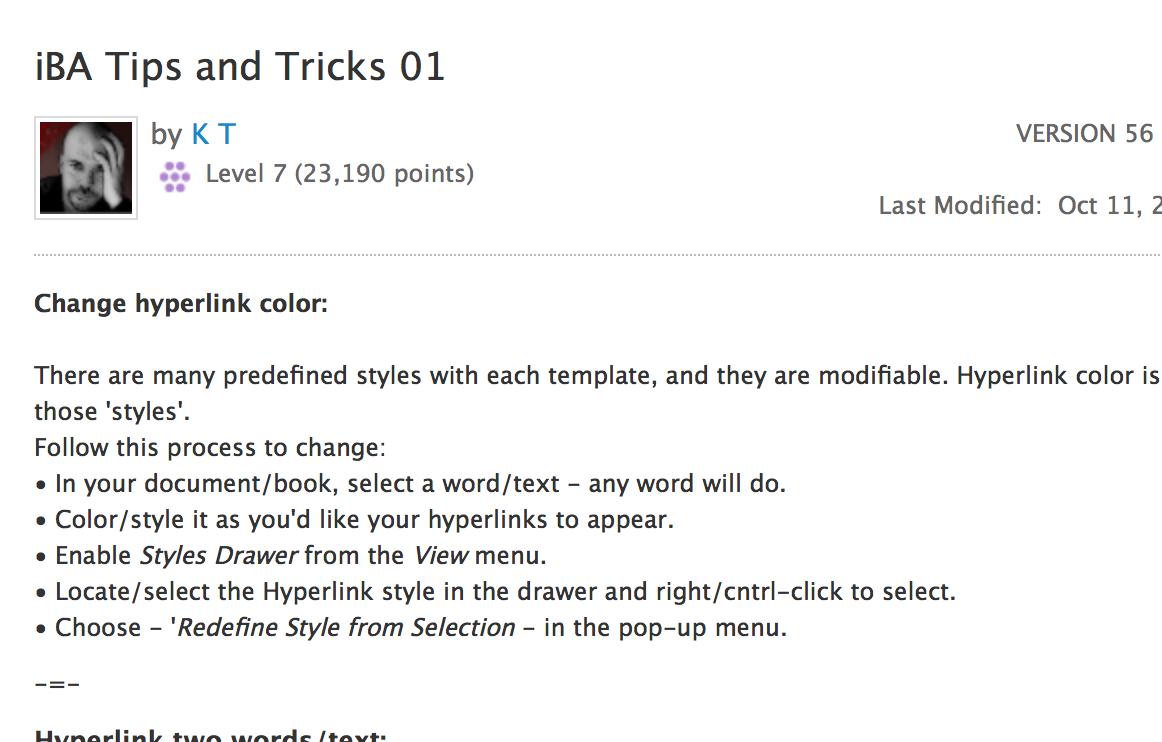 iBooks Author Tips & Tricks Ibooks author, Tips, Words