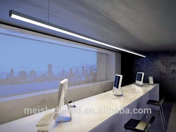 Ceiling Suspended Circular Aluminium Profile For Double Width Led