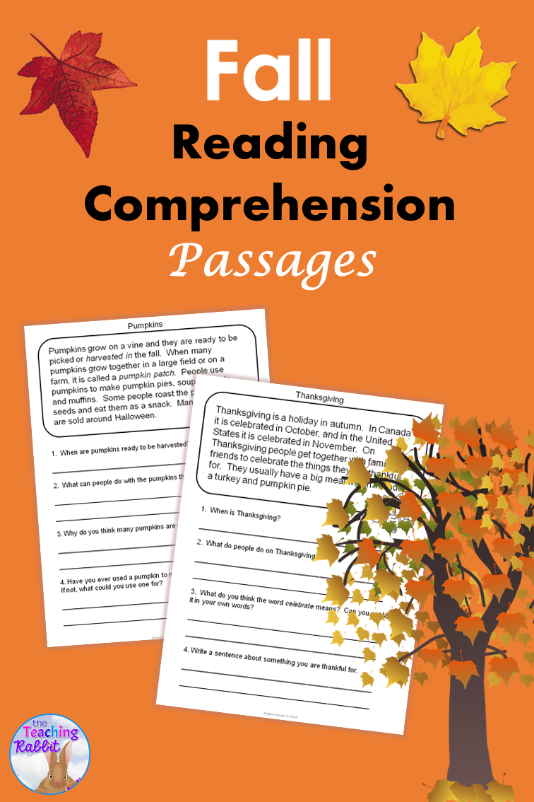 Fall Reading Comprehension Passages Distance Learning Reading Comprehension Passages Fall Reading Comprehension Comprehension Passage [ 1134 x 756 Pixel ]