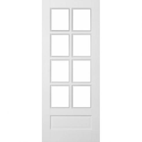 Jeld Wen | Avesta Internal White Primed 1 Panel 8 Light Clear Glazed Door |