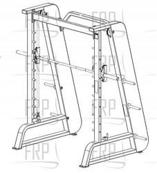 www.fitnessrepairparts.com equipment_files 90955-802-Smith-MachinePage1_sm.jpg