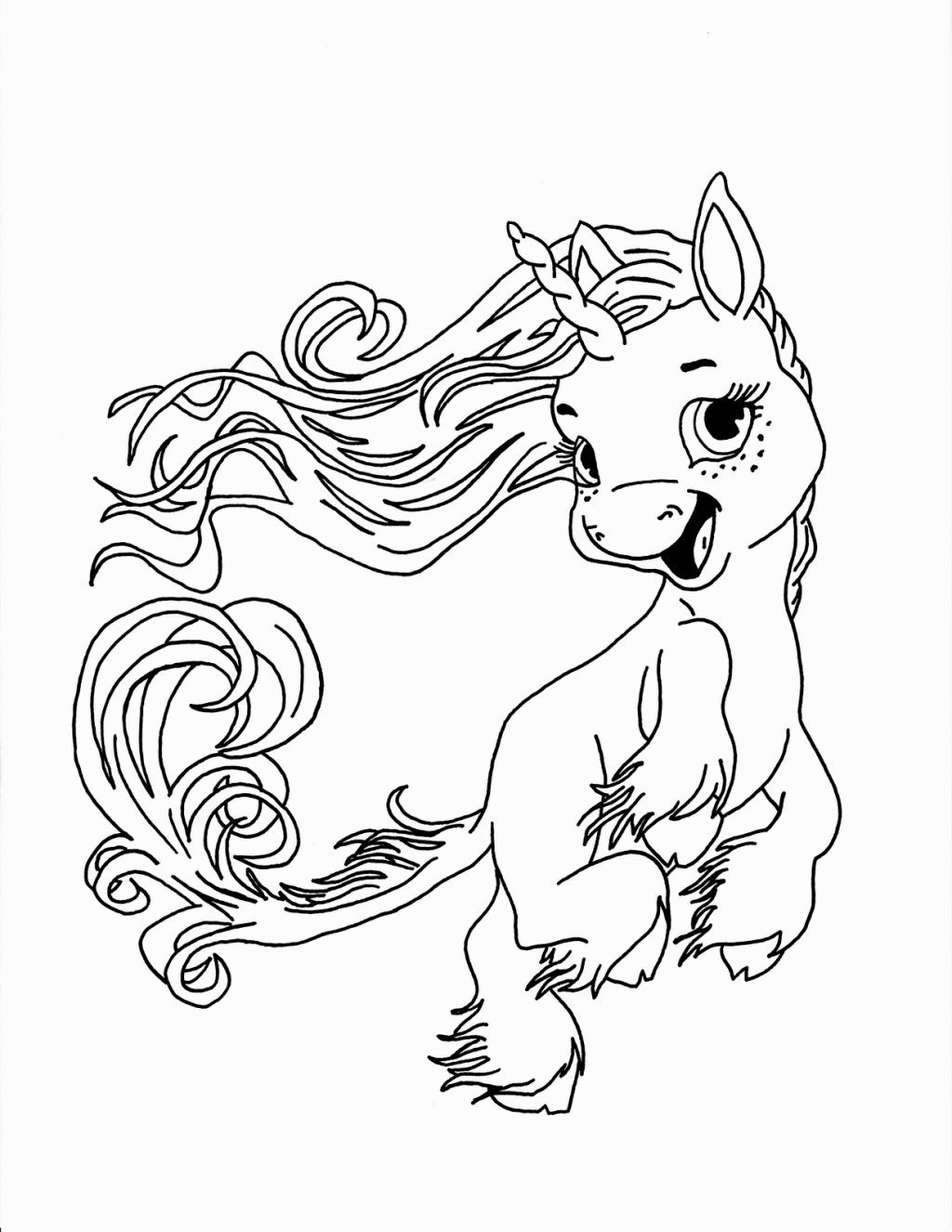 Cute Baby Unicorn Coloring Page Fantasy Coloring Pages