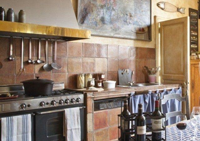 Decoraci n de cocinas r sticas for Cortinas cocina rustica