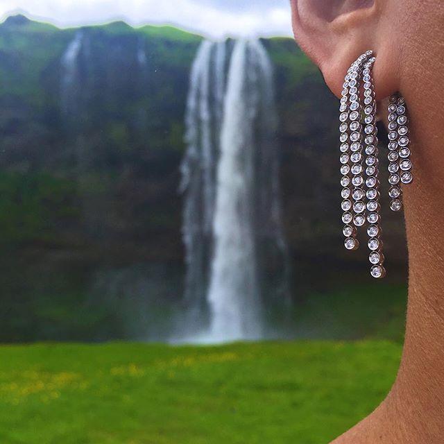 """ New #LynnBan cascading diamond #Foss earrings #Iceland"" Photo taken by @lynn_ban on Instagram, pinned via the InstaPin iOS App! http://www.instapinapp.com (07/05/2015)"