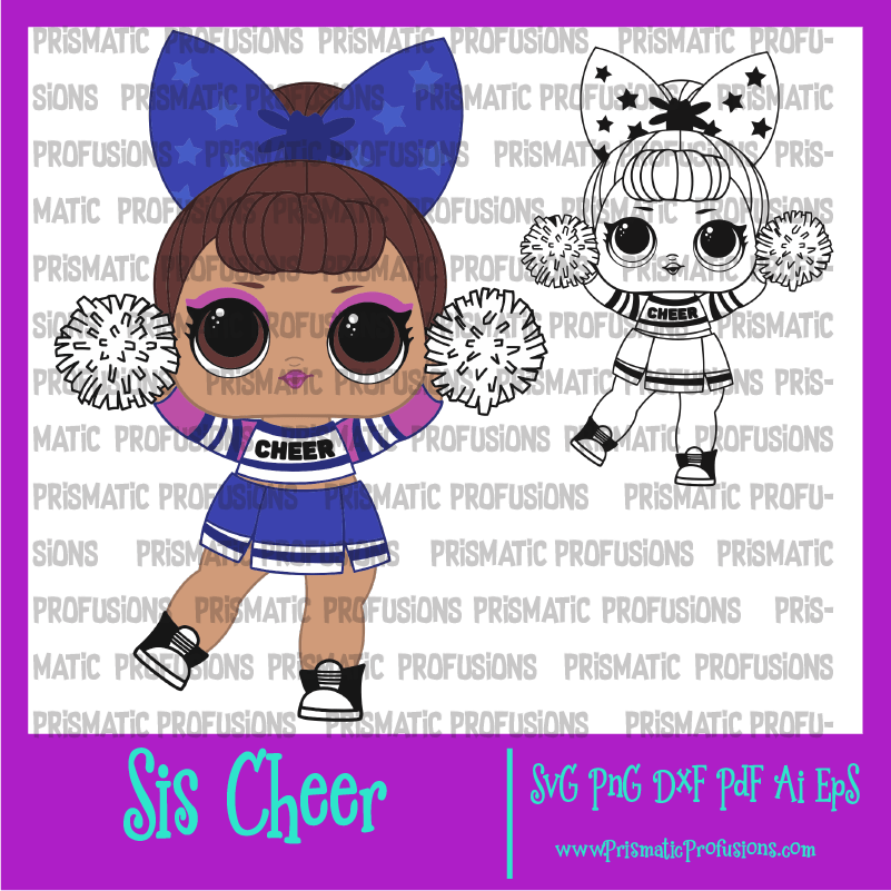 Cheerleader Lol Doll Coloring Pages