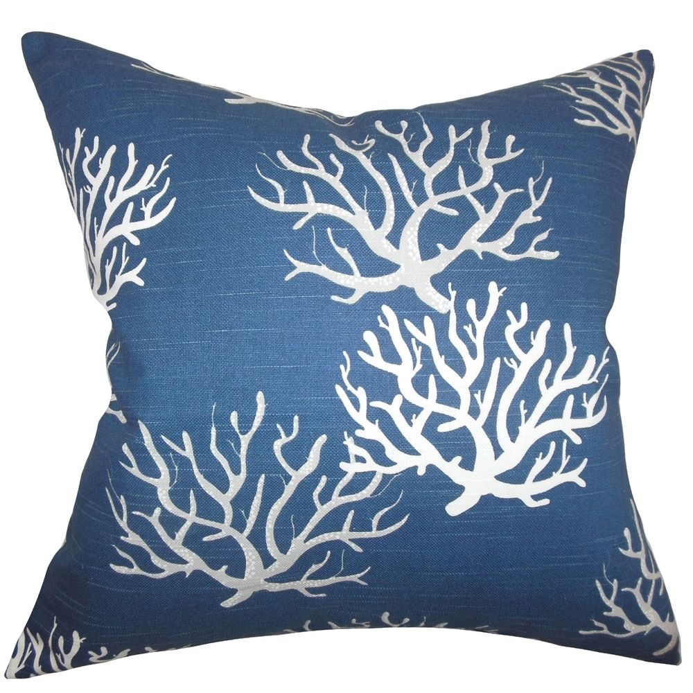 Hafwen Coastal Navy Blue Feather Filled 18-inch Throw Pillow   Overstock™ Shopping - Great Deals on PILLOW COLLECTION INC Throw Pillows