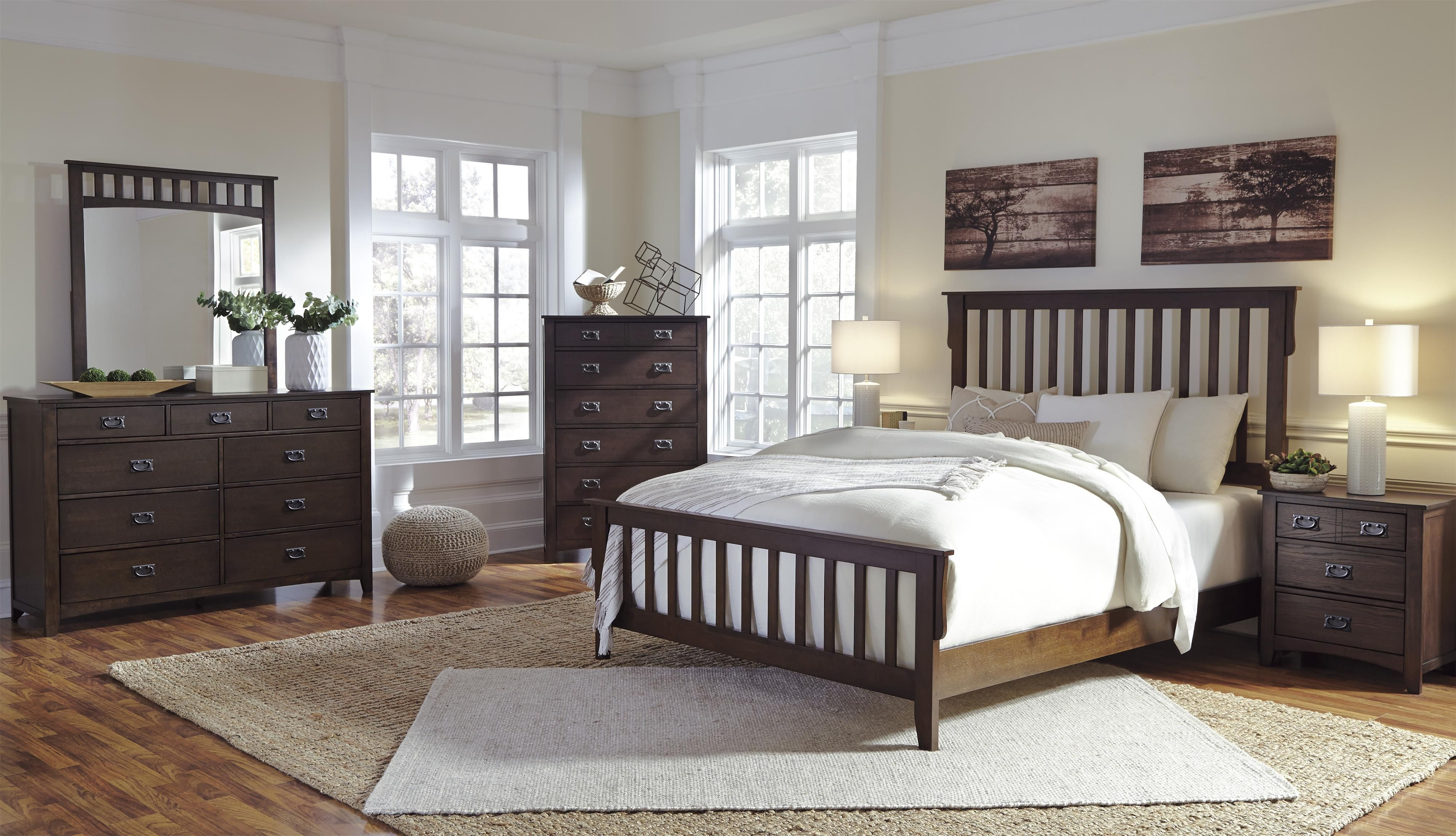 "Ashley Furniture Signature Design Bedroom Set Ashley Furniture ""strenton"" Made With Oak Veneers And Select"