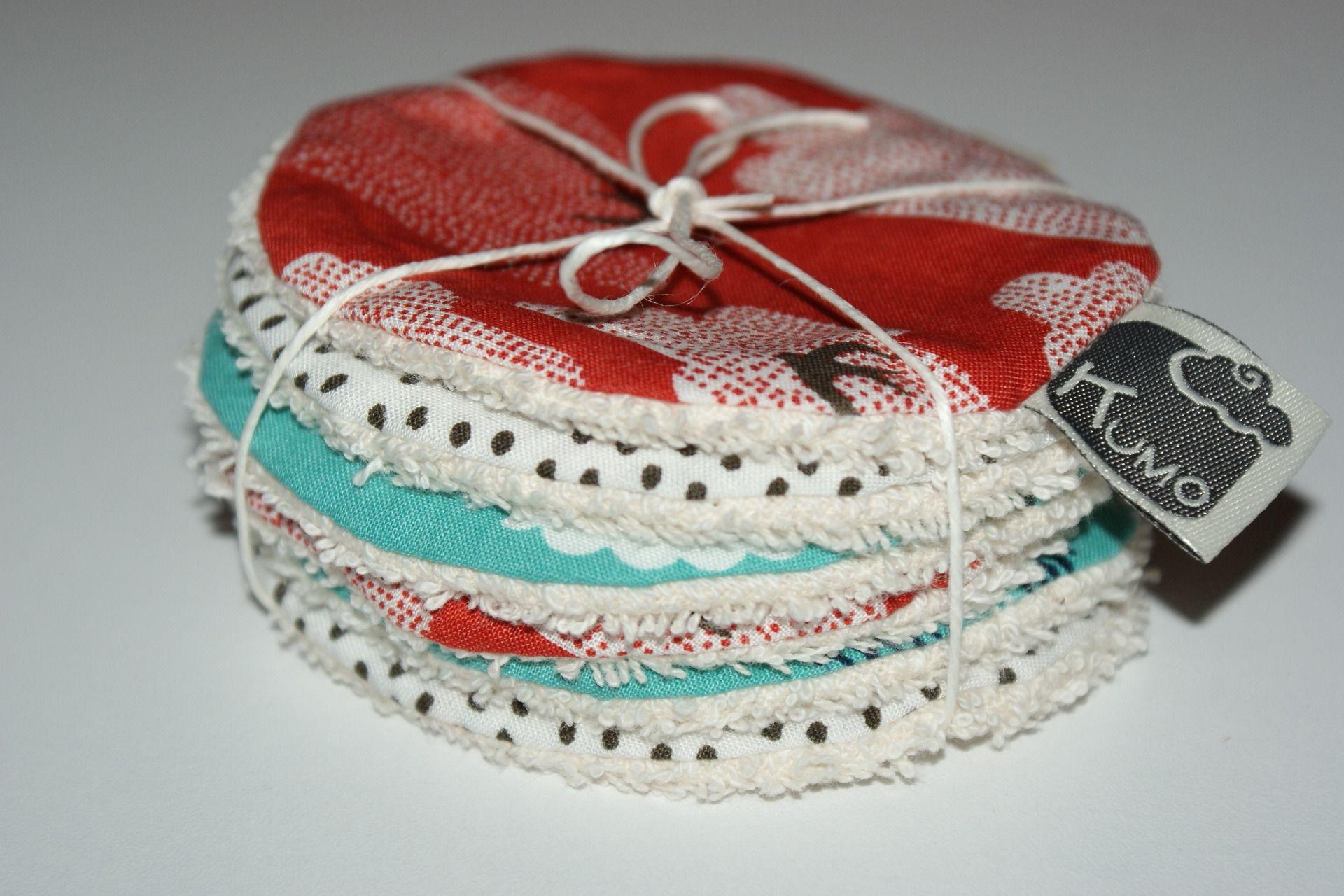 Disques à démaquiller lavables en Coton Bio imprimé asiatique : Soin, bien-être par kumoandfriends. Kumoandfriends.ALittleMarket.com