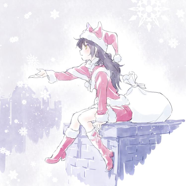Rwby Christmas.Christmas Blake Rwby Rwby Anime Art Rwby Fanart