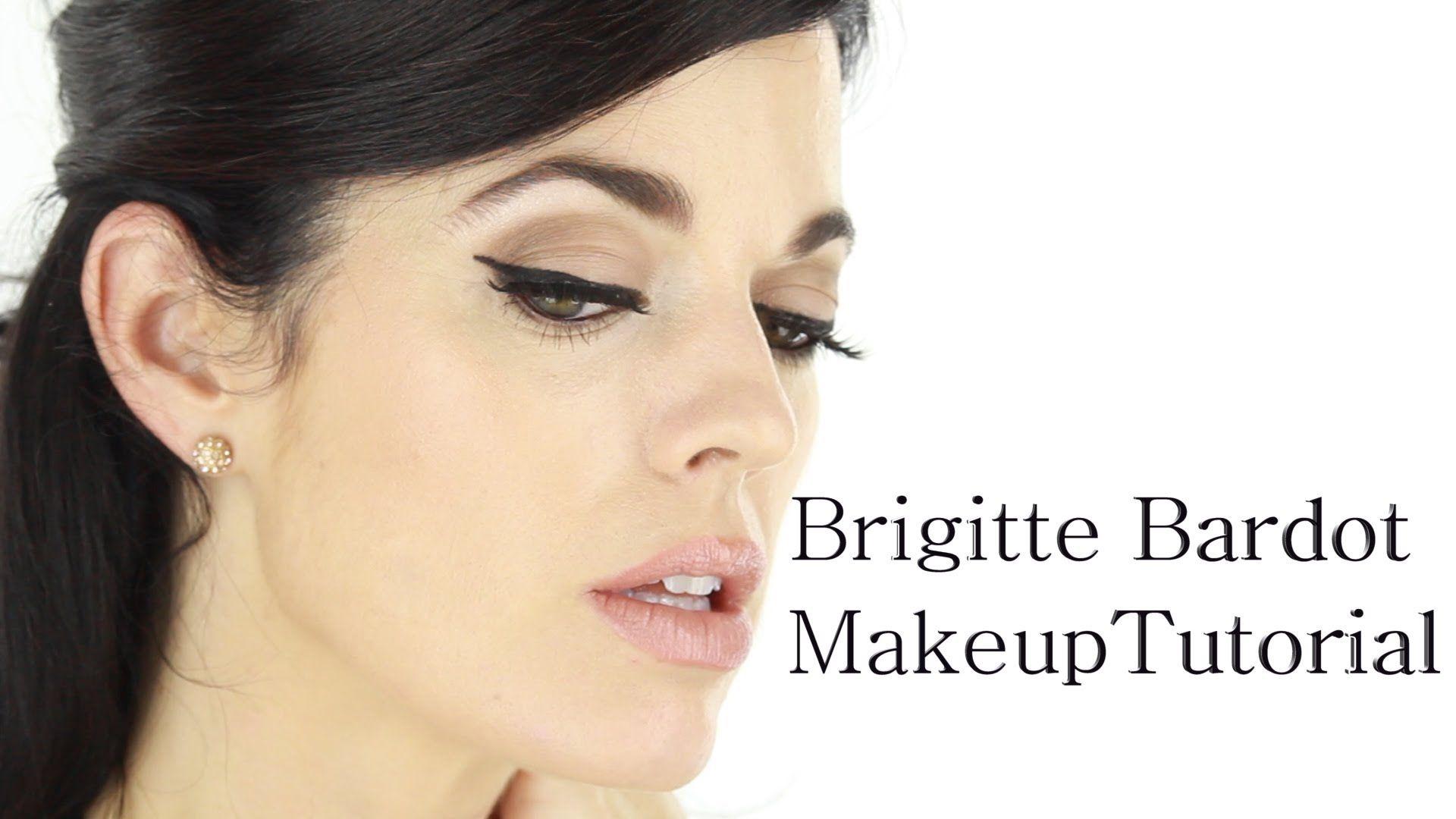 A brunette's take on the Brigitte Bardot signature look ...