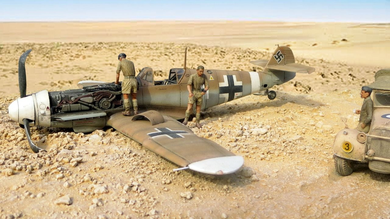 Messerschmitt Bf109g 2 By Kent Karlsen Revell 1 32 Diorama Messerschmitt Model Planes