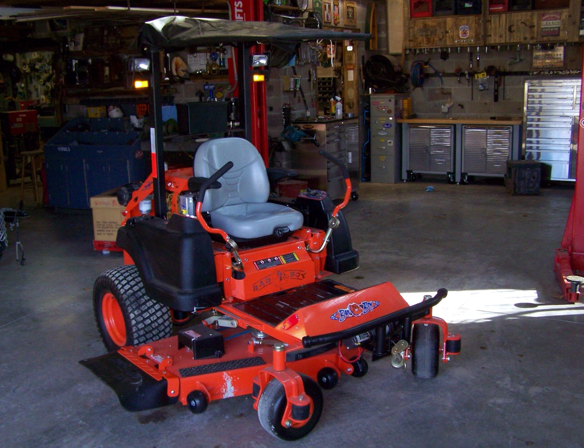 Winch bumper lights and canopy added to a Bad Boy Diesel Mower. : zero turn mower canopy - memphite.com