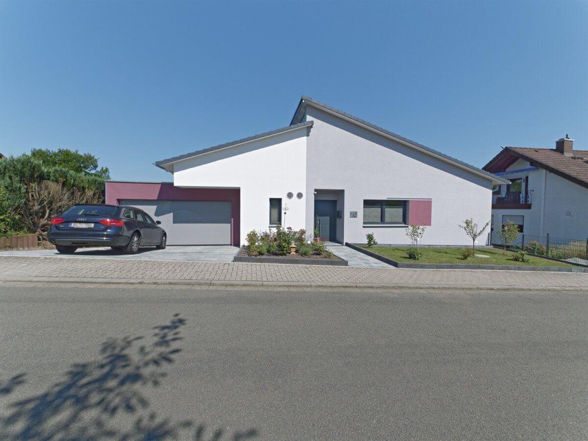 Bungalow Haus Mit Garage Weberhaus Fertighaus Mit Pultdach