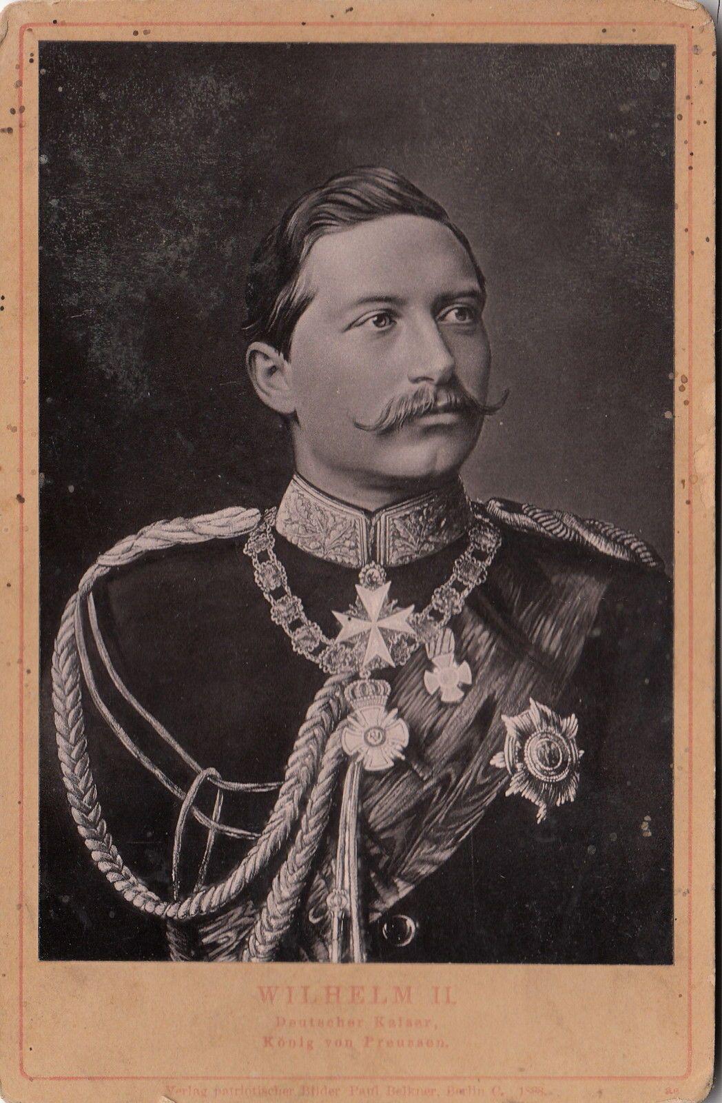 Kaiser Wilhelm II König v Preußen m Uniform Schwarzer Adler Orden 1888