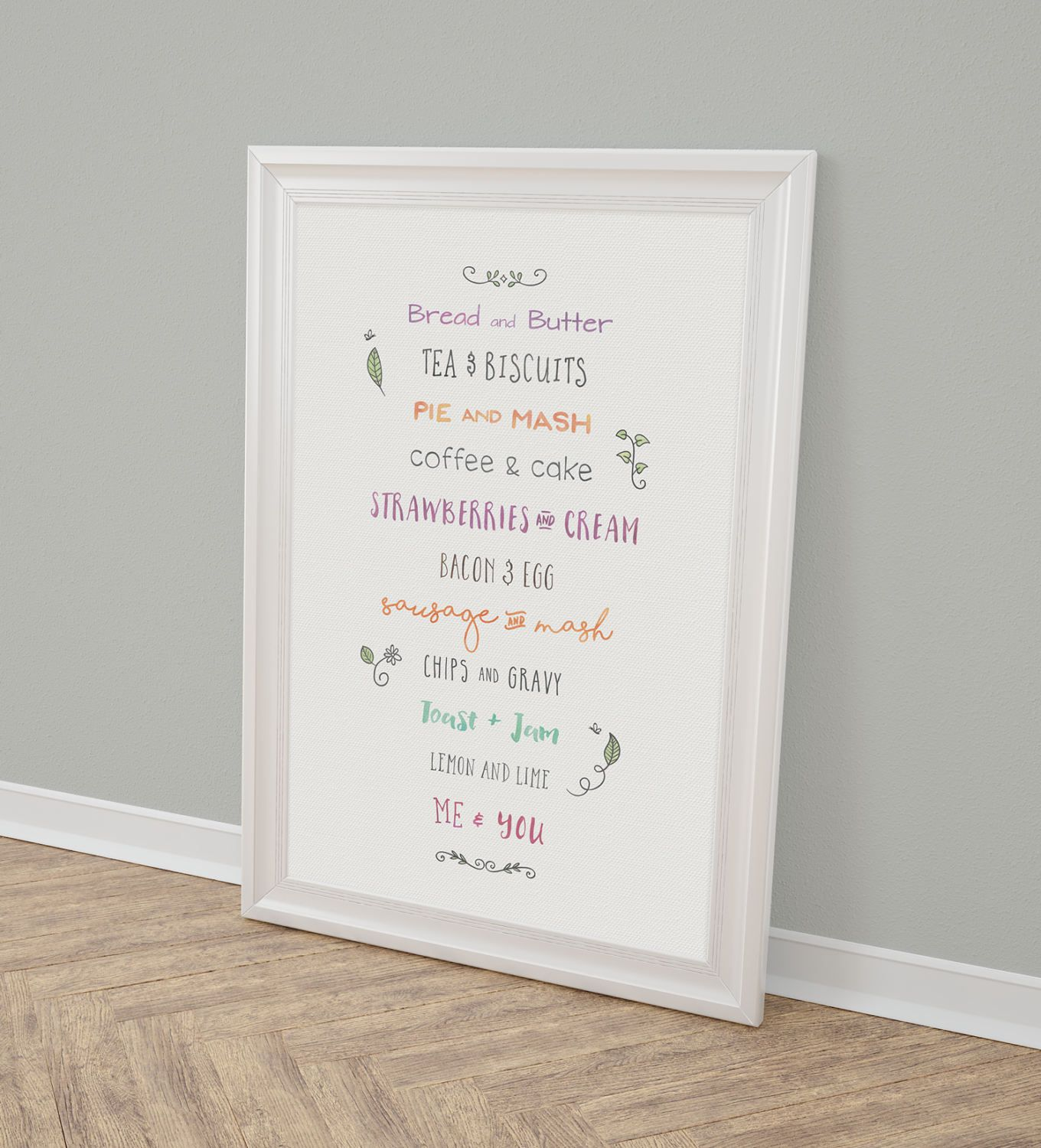 Personalised Me And You Things That Go Together Print