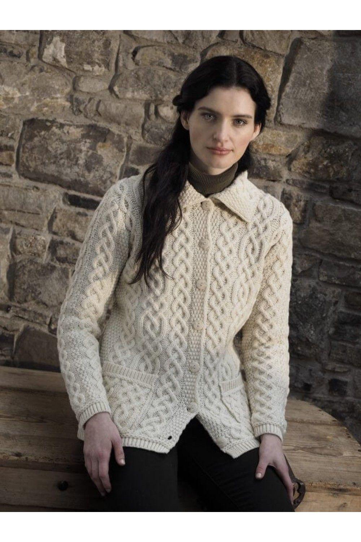 Aran Traditional Button Cardigan   Mode