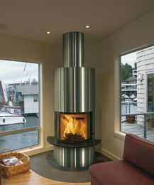 Scan DSA 5 Stainless Steel Freestanding Fireplace if only