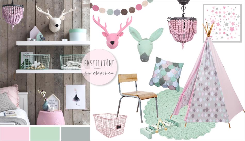 Kidsdepot Kinderzimmer in rosa, mint & grau | Tilda ...
