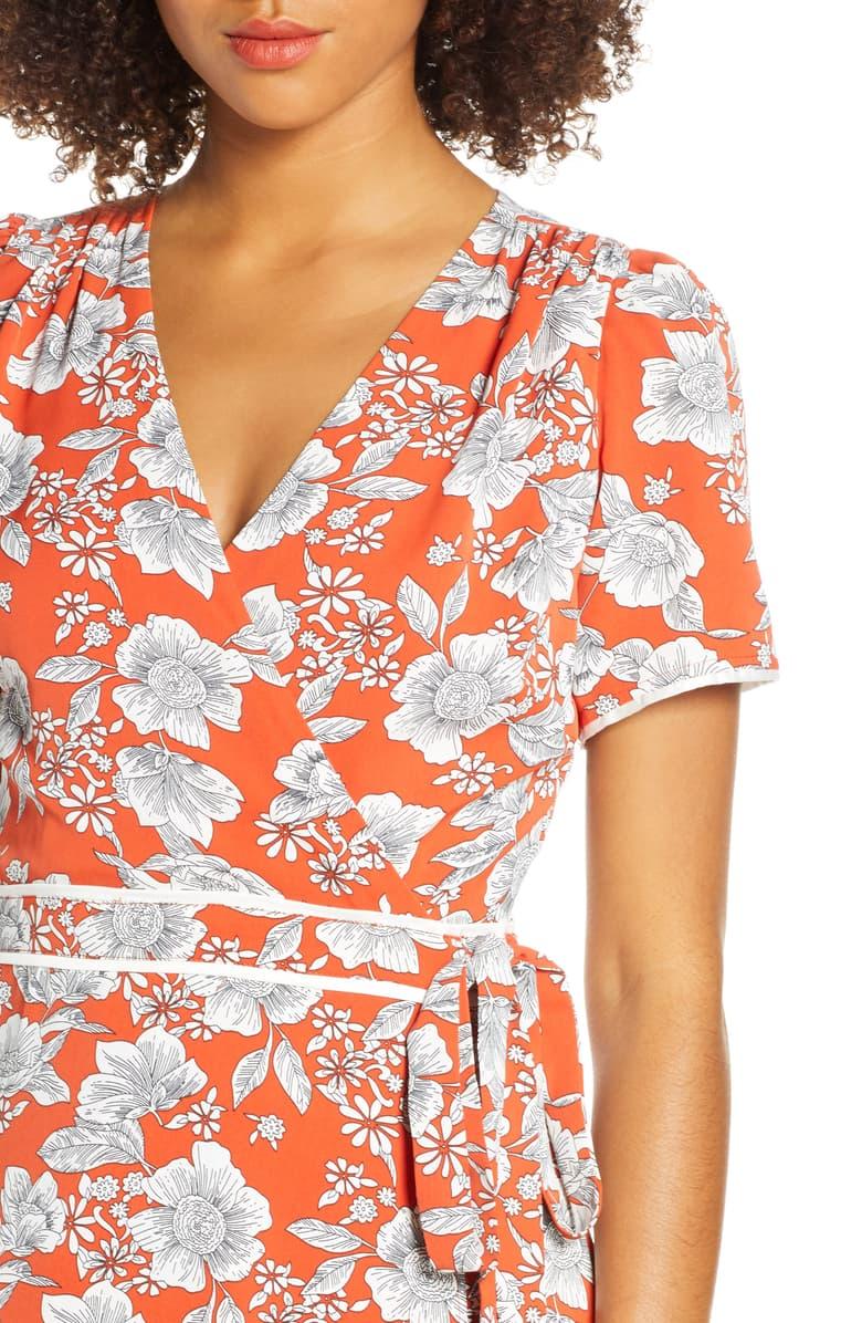 Chelsea28 Floral Print Faux Wrap Maxi Dress Nordstrom Maxi Wrap Dress Nordstrom Dresses Maxi Dress [ 1196 x 780 Pixel ]
