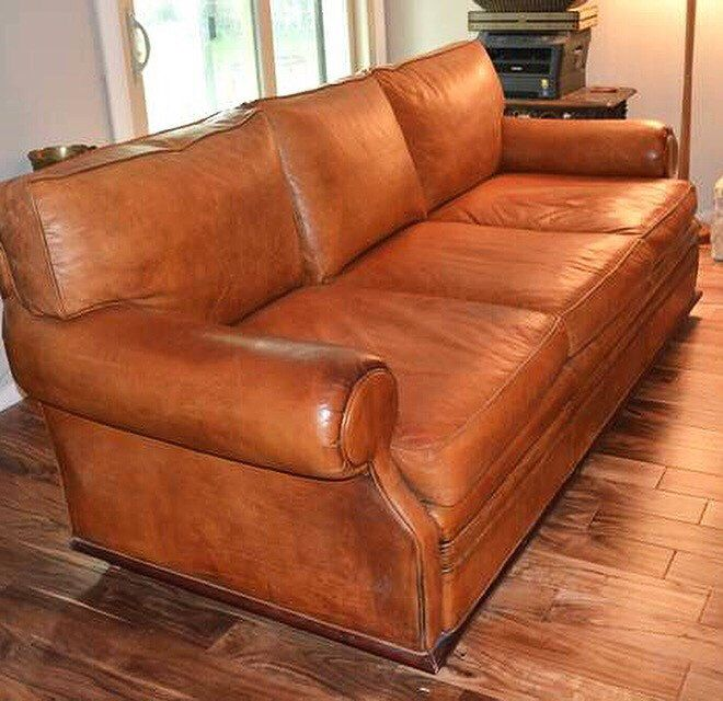 Vintage Leather Ralph Lauren Sofa Scoops Modern