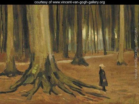 A Girl in a Wood - Vincent Van Gogh - www.vincent-van-gogh-gallery.org