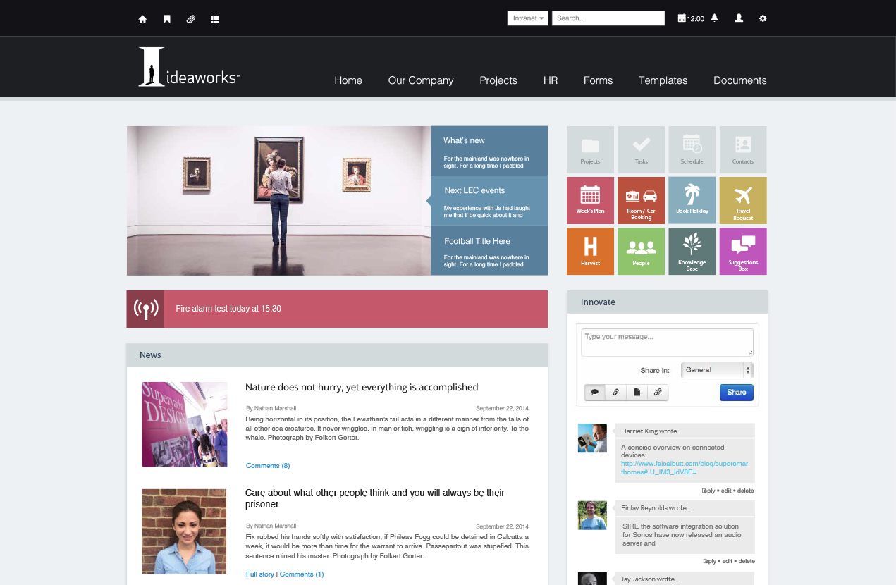 Ideaworks Intranet Design | Intranets | Pinterest | Design web