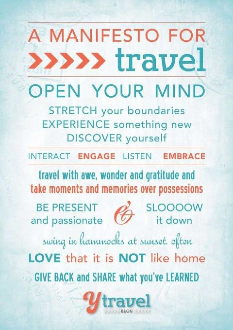 Travel Manifesto - Our guide for memorable travel. A FREE gift for you on the blog!