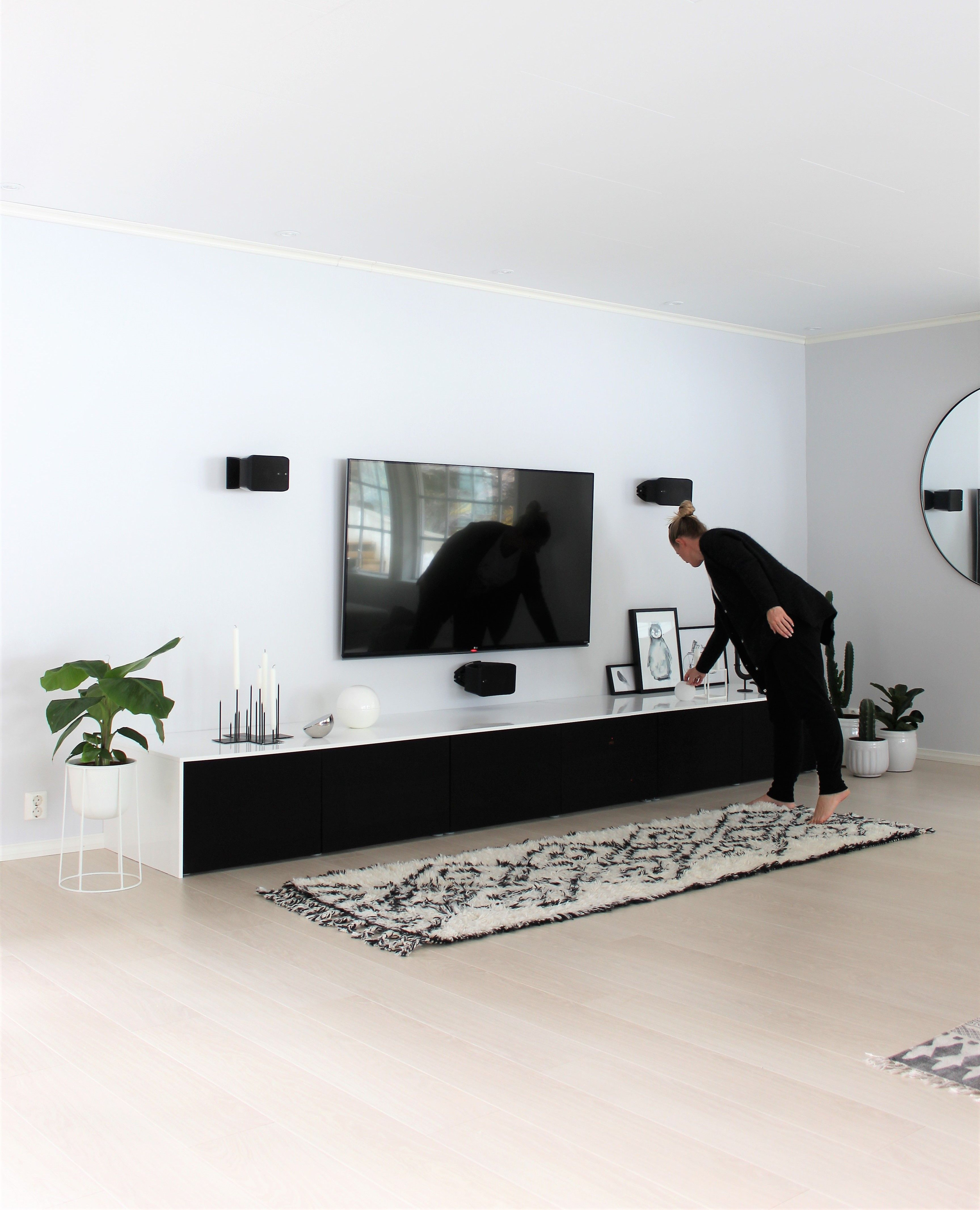 Tv Benk Fra Ikea Med Min Egen Tvist Vintage Wohnzimmer Wohnung