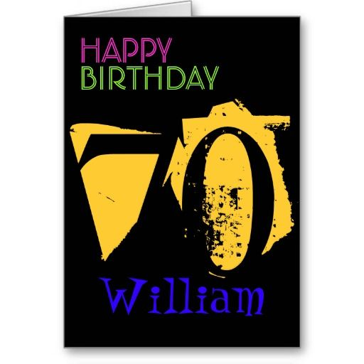 Personalized 70th Birthday Greeting Card