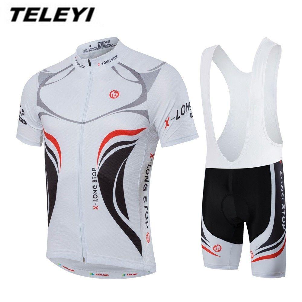 Men Cycling Clothing Summer Bike Jersey Bib Shorts Sets Pro Mtb