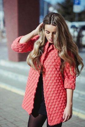 Вязаные спицами пальто, кардиганы, пончо для женщин, схемы