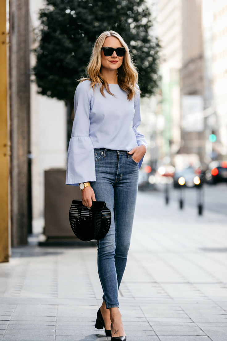686c0b2d8 A Stylish Way to Wear a Bell Sleeve Top | Fashion Jackson | Bell Sleeve  Top, Bell Sleeve Shirt, Bell Sleeve Blouse, Bell Sleeve, City Fashion, ...