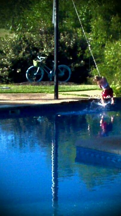 This Swing Rope Over Our Pool Is The Fav At Our House It