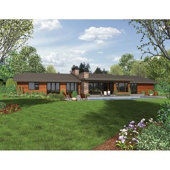 The House Designers THD 4364 Builder Ready Blueprints to Build a Modern House Plan with Crawl Space Foundation 5 Printed Sets