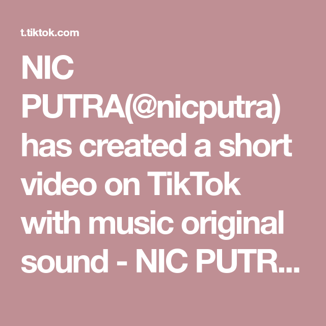 Nic Putra Nicputra Has Created A Short Video On Tiktok With Music Original Sound Nic Putra Cara Kedua Tips Memutihkan Kulit S Pemutih Kulit Ketombe Kulit