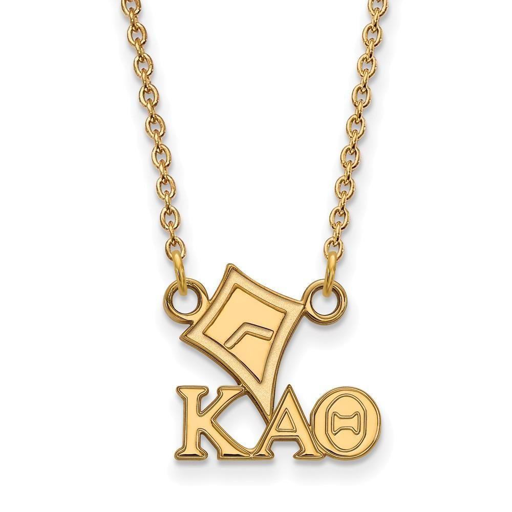 Logoart Sterling Silver Gp Kappa Kappa Gamma Small Enamel Pendant Necklace