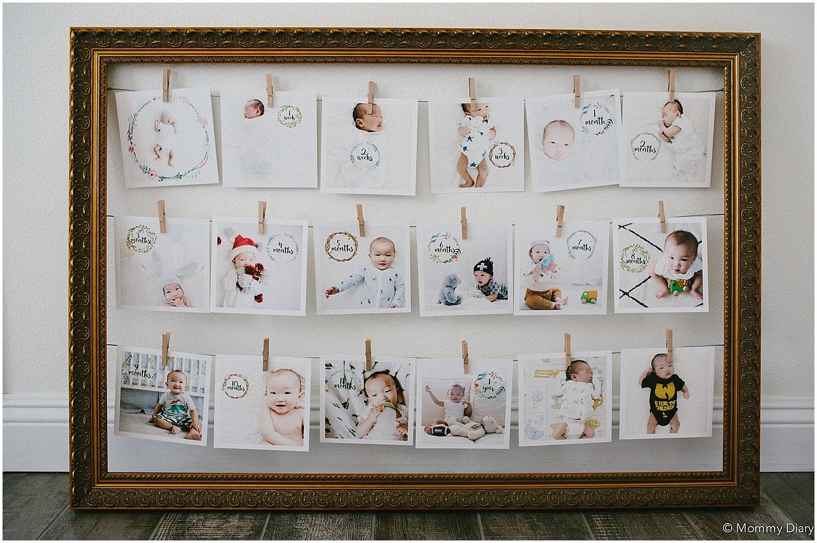 Diy Baby Milestone Collage Frame Mommy Diary Milestone Pictures Baby Milestones Baby Milestones Pictures