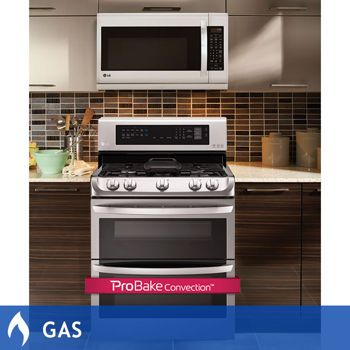 LG 2-Piece Stainless Steel Cooking Pair 6 9CuFt with ProBake