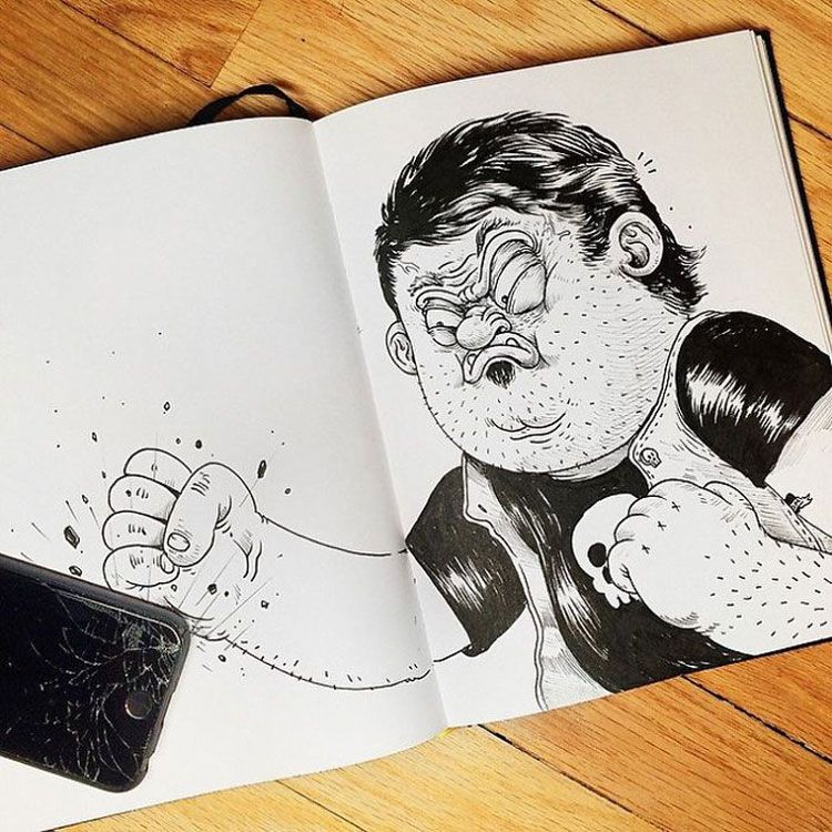 Funny Drawings Fight with Their Own Creator  Wiloo