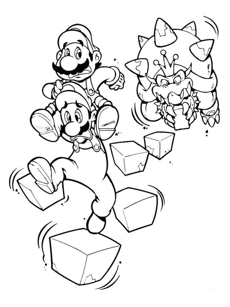 Mario Vs Bowser Coloring Pages In 2020 Super Mario Coloring