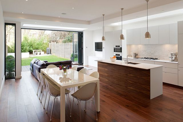 open plan kitchendinerlivinggarden love it - Sofas For Kitchen Diner