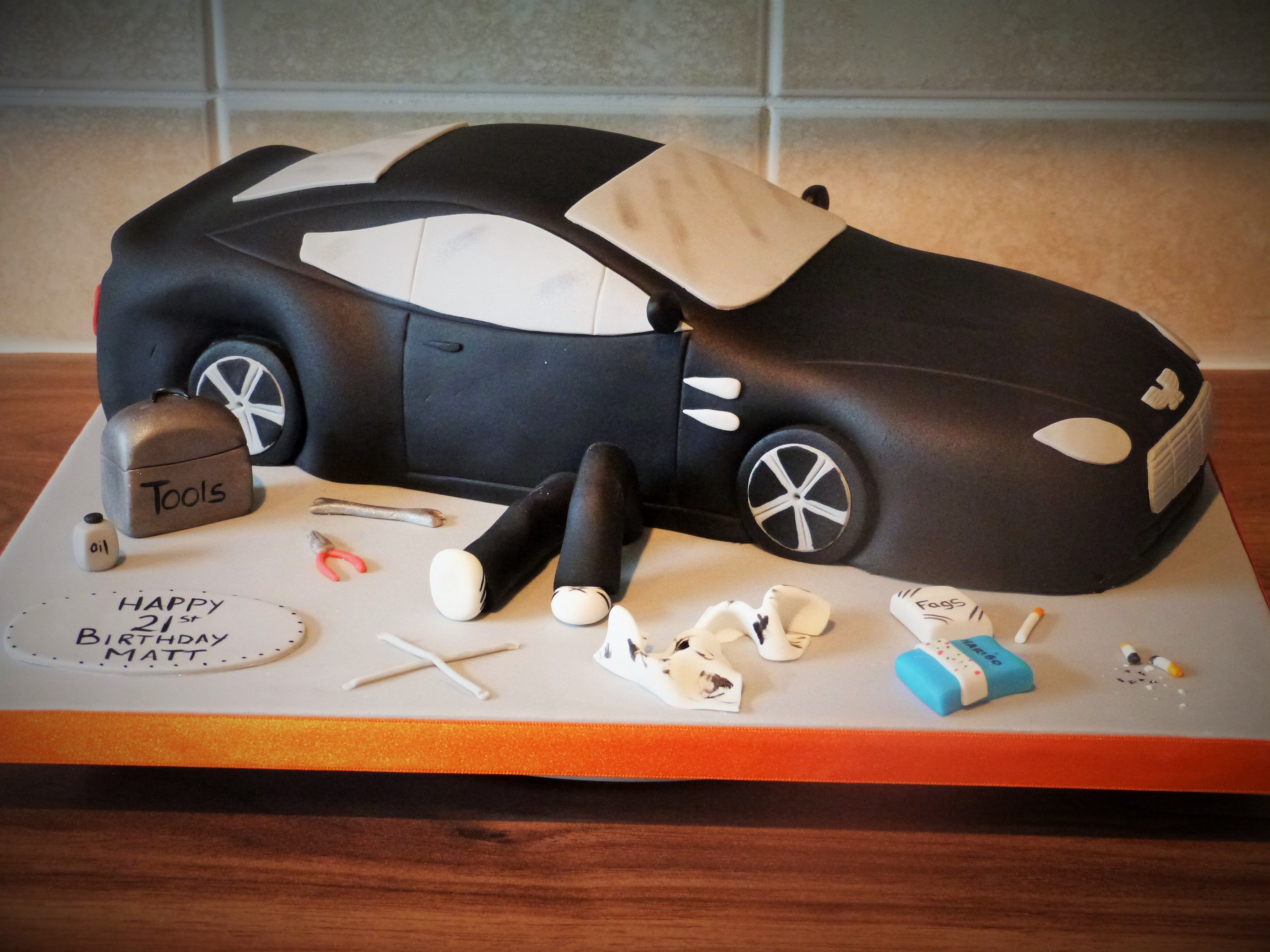 Sports car cake Cake designs Pinterest