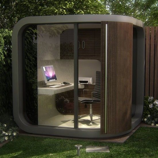 outdoor office pod. dad should see this** this office pod allow you to have a (tiny) home in your own back yard! outdoor